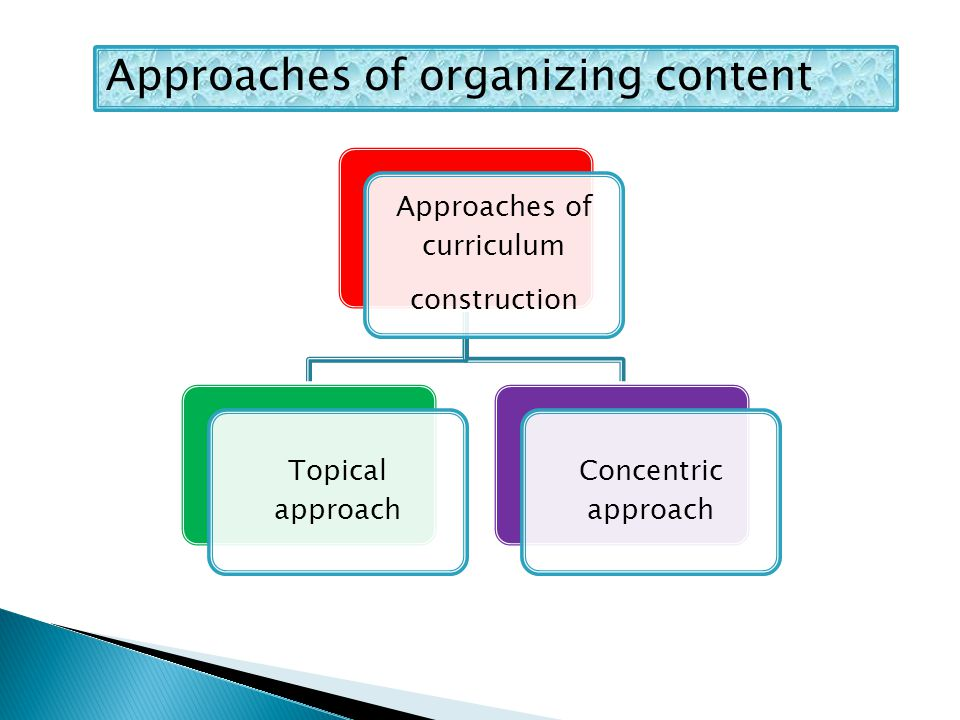 Approaches of curriculum