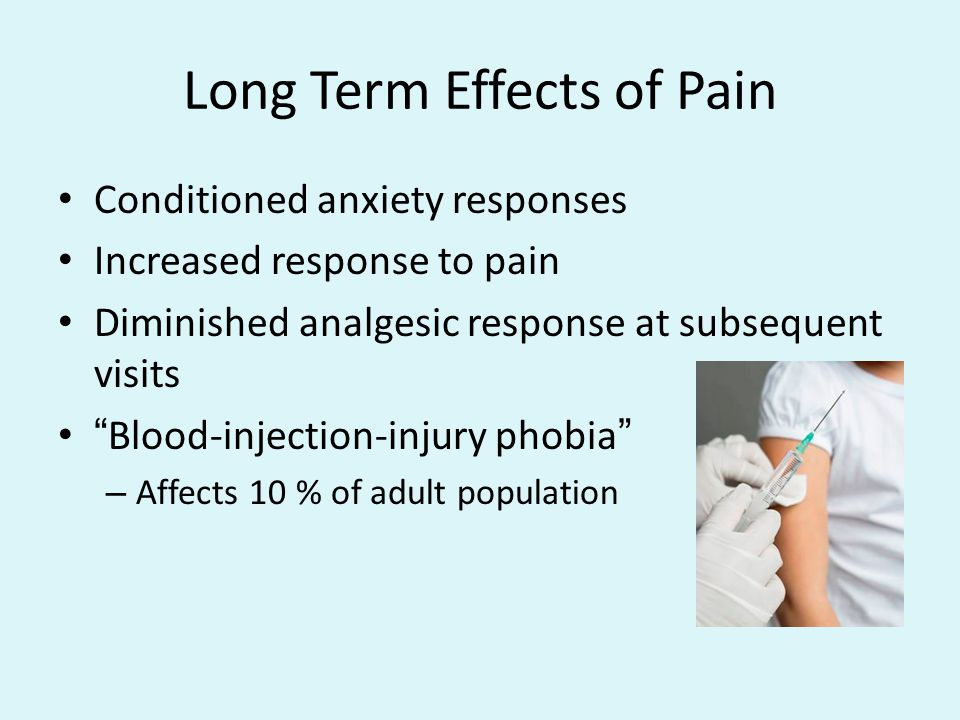 Long Term Effects of Pain