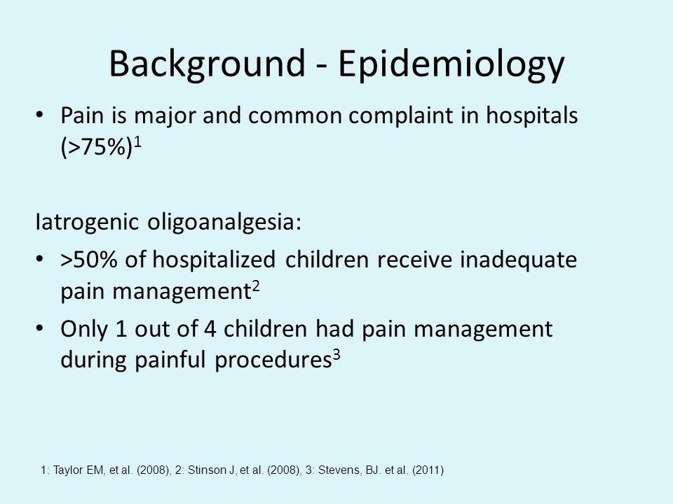 Background - Epidemiology