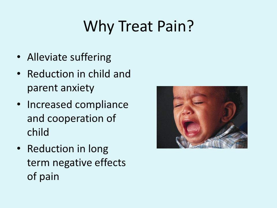 Why Treat Pain Alleviate suffering