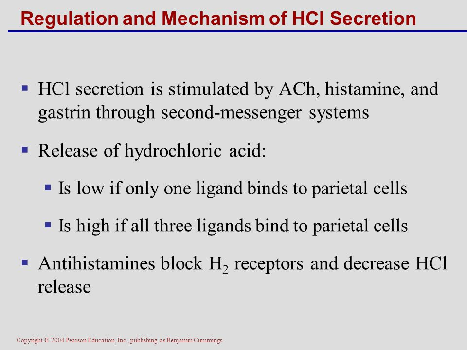 Regulation and Mechanism of HCl Secretion