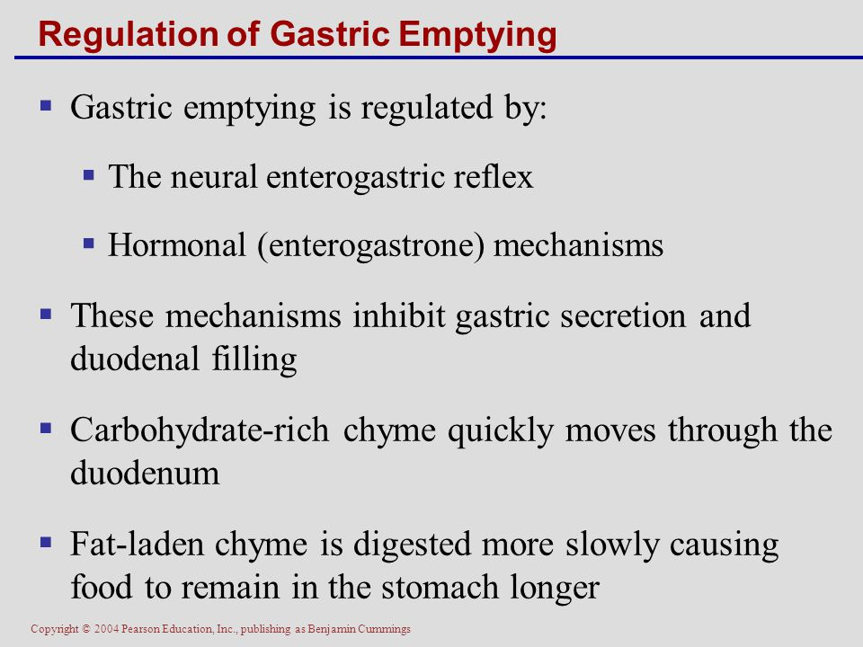 Regulation of Gastric Emptying