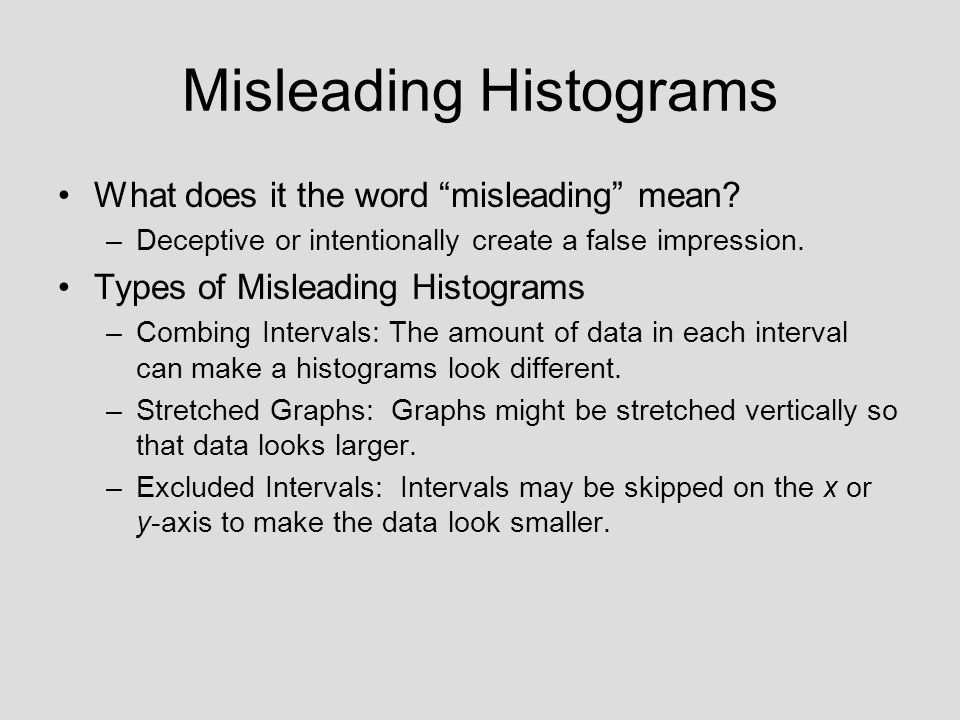 Misleading Histograms