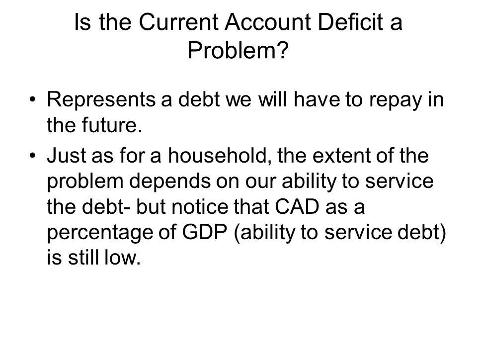 Is the Current Account Deficit a Problem
