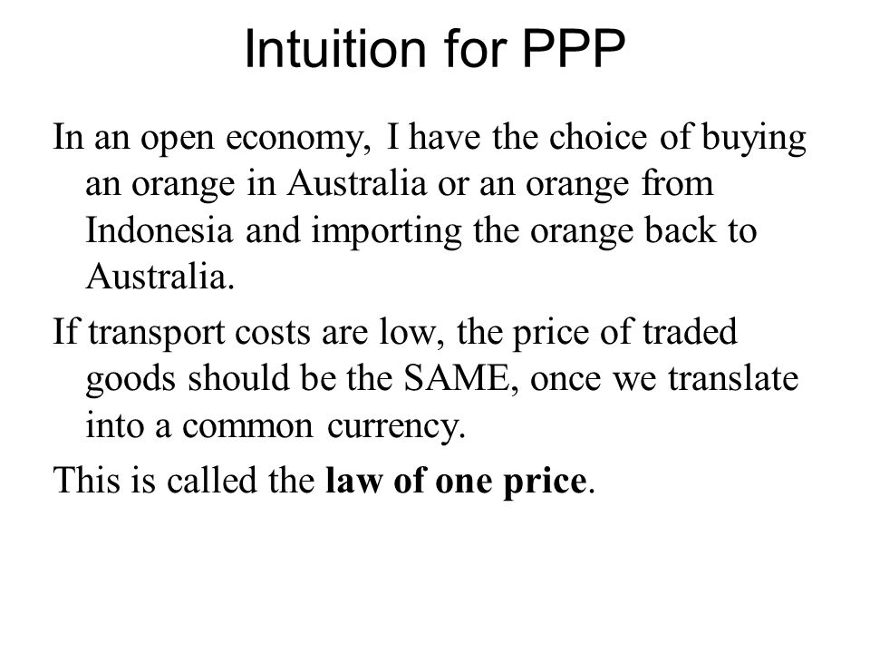 Intuition for PPP