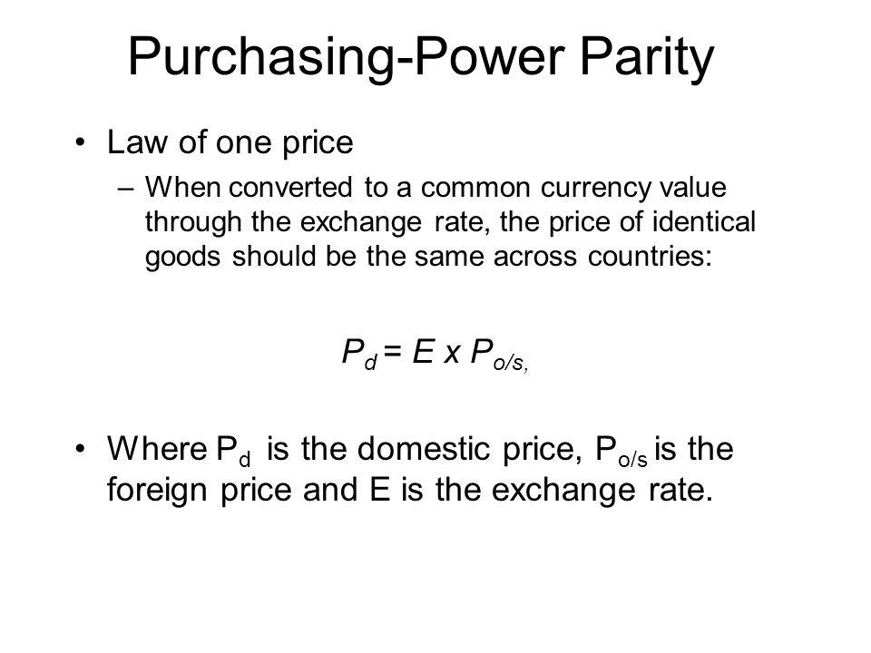 Purchasing-Power Parity
