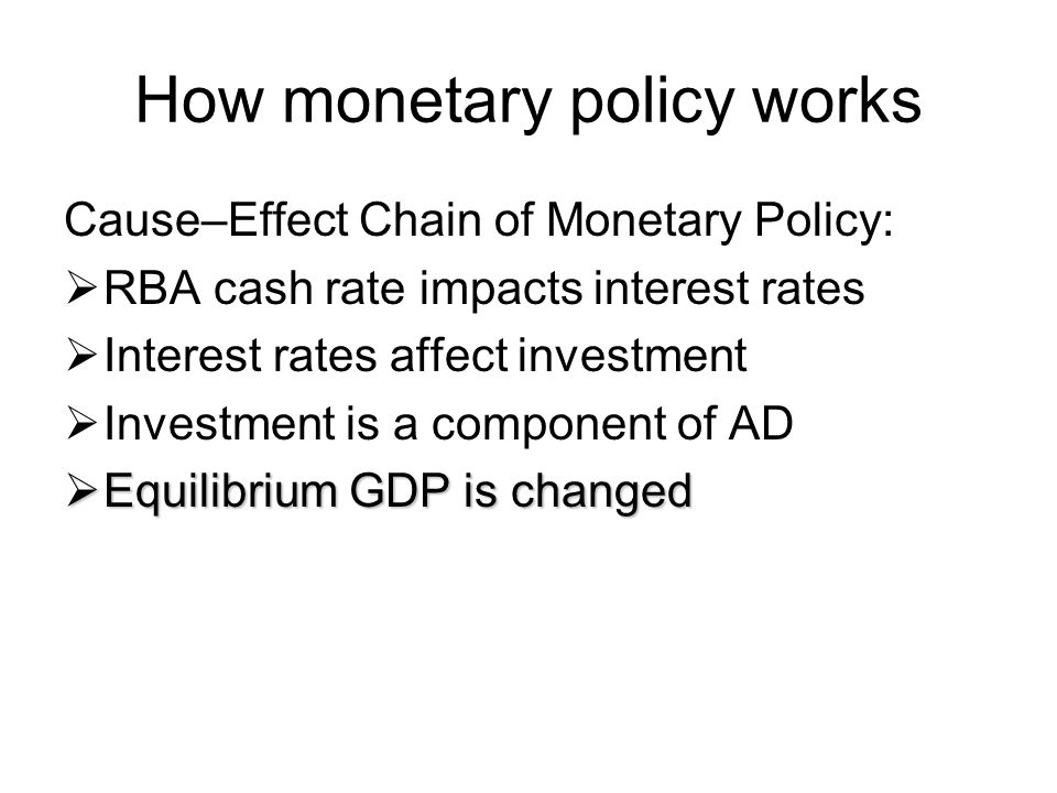 How monetary policy works