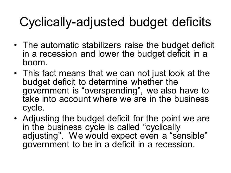 Cyclically-adjusted budget deficits