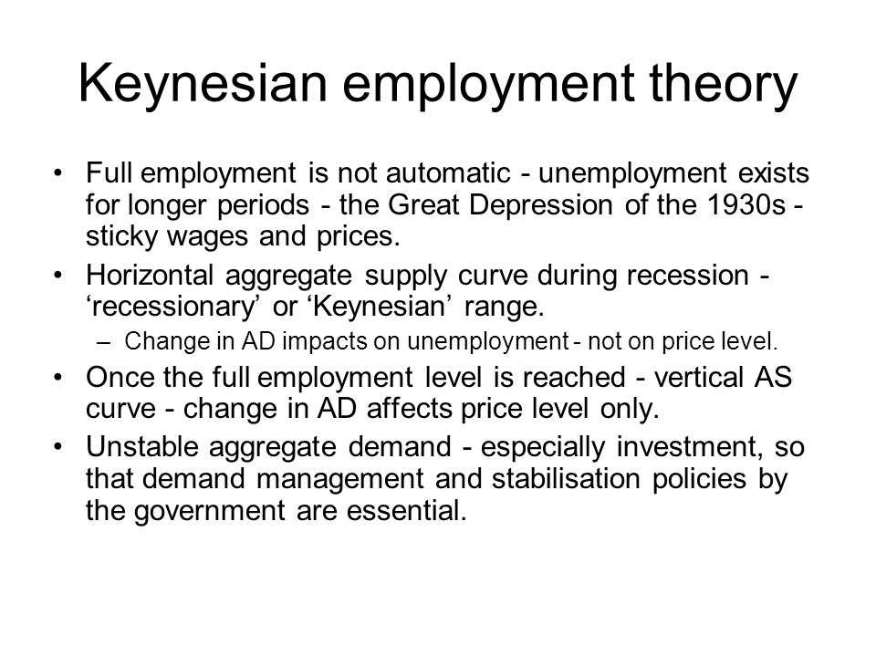 Keynesian employment theory