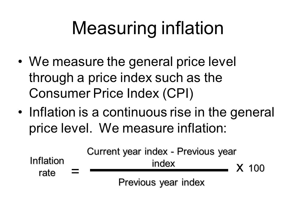 Current year index - Previous year