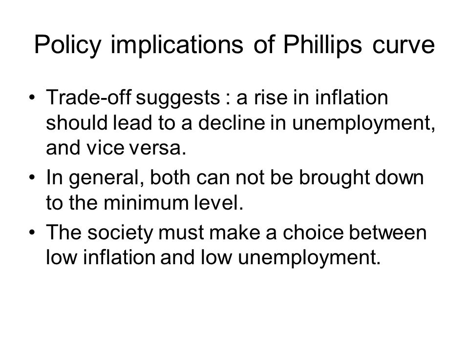 Policy implications of Phillips curve