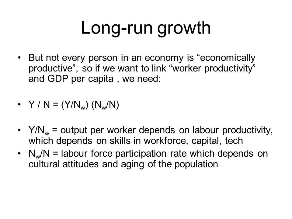 Long-run growth