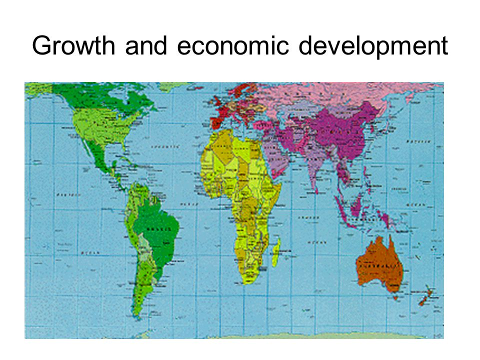 Growth and economic development