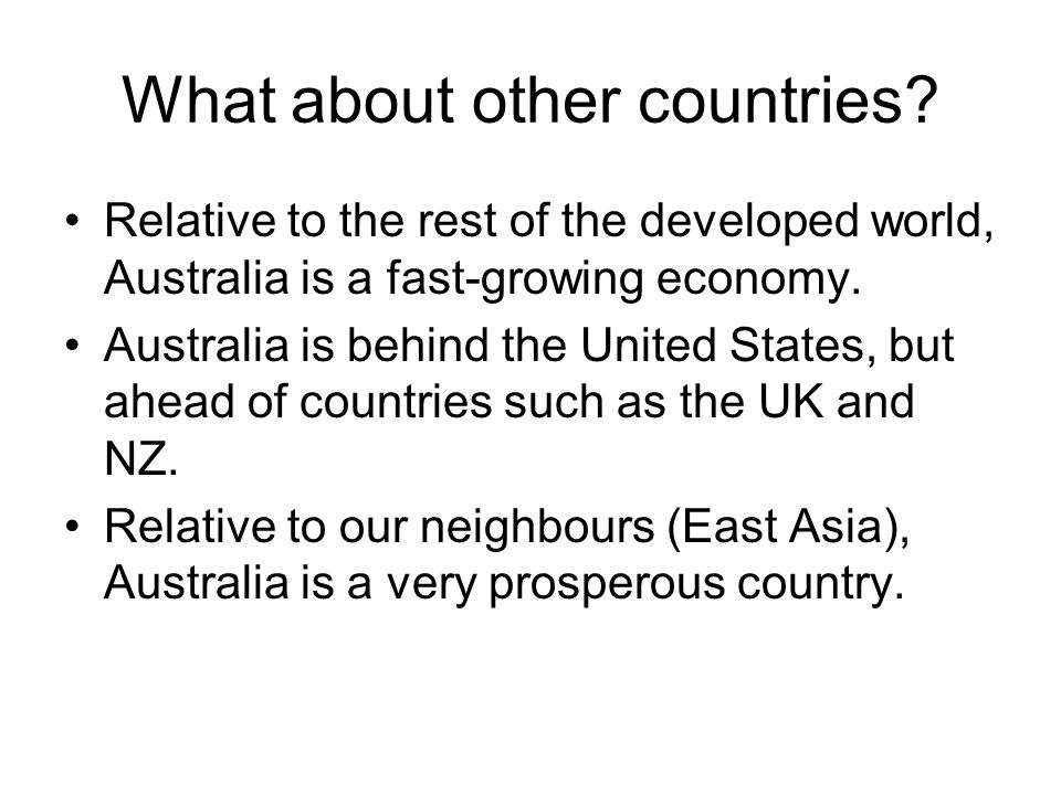 What about other countries
