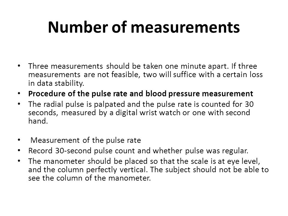 Number of measurements
