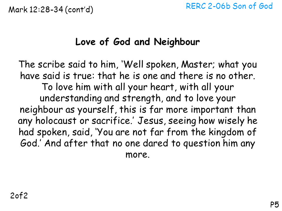 Love of God and Neighbour