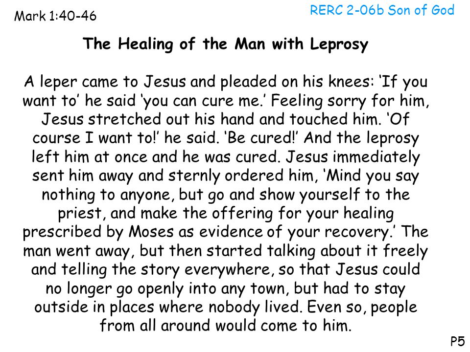 The Healing of the Man with Leprosy