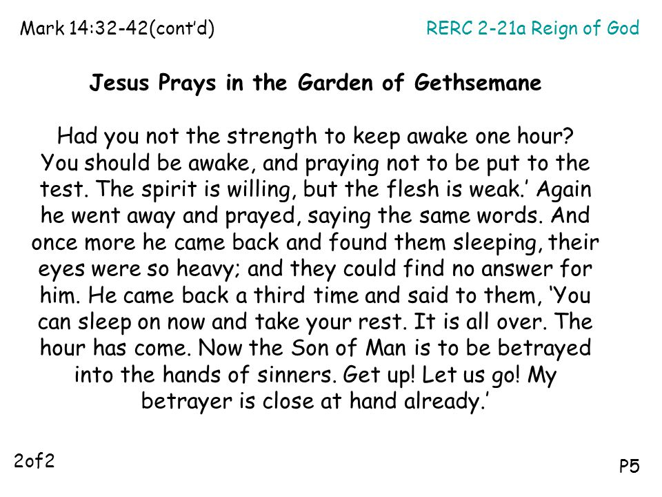 Jesus Prays in the Garden of Gethsemane