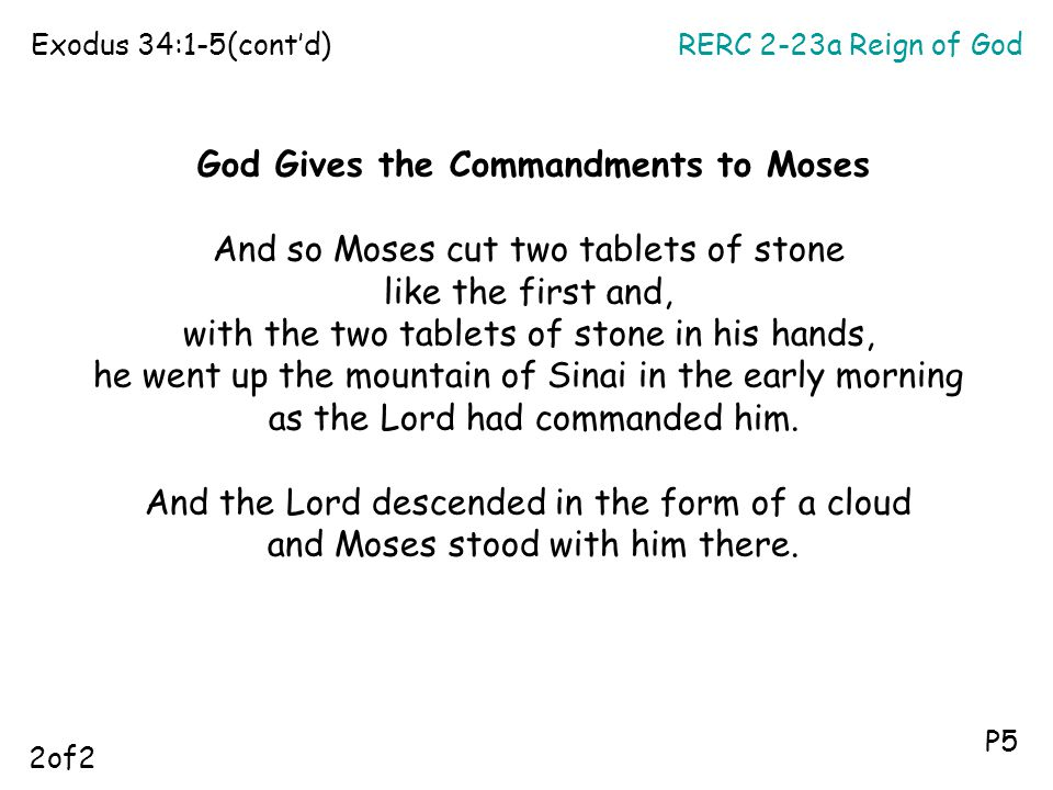God Gives the Commandments to Moses