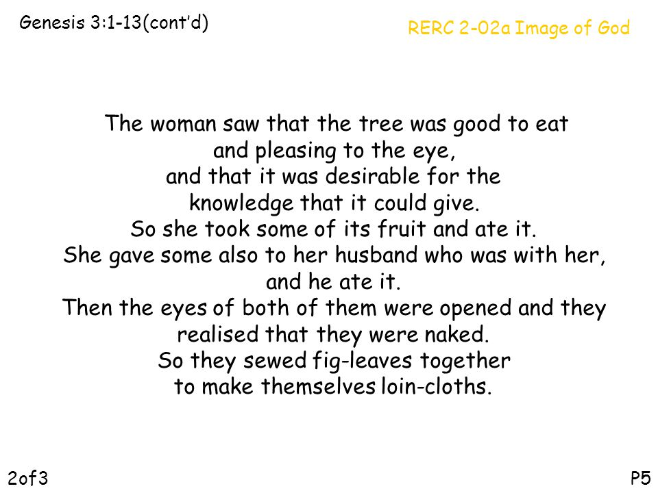 The woman saw that the tree was good to eat and pleasing to the eye,