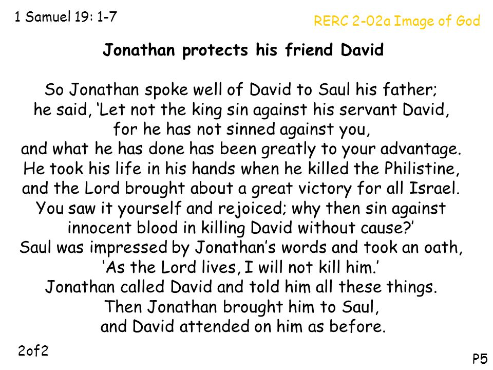 Jonathan protects his friend David