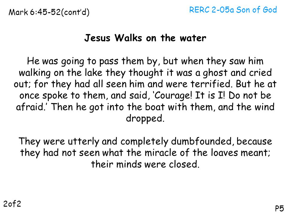 Jesus Walks on the water