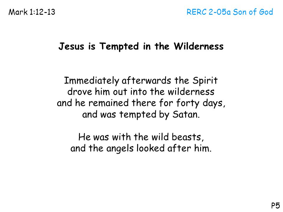 Jesus is Tempted in the Wilderness