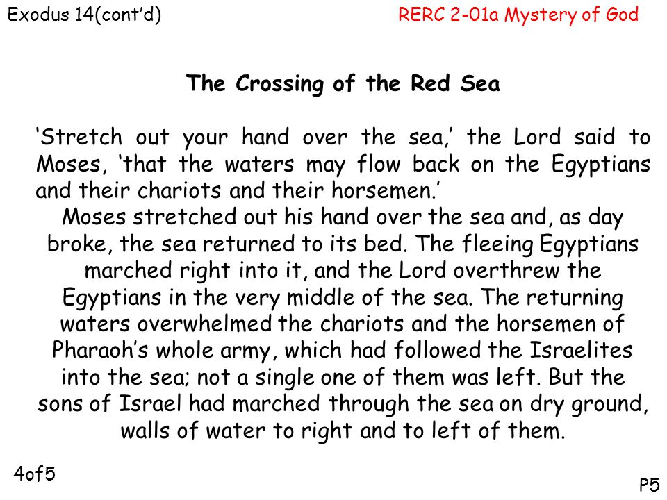 The Crossing of the Red Sea