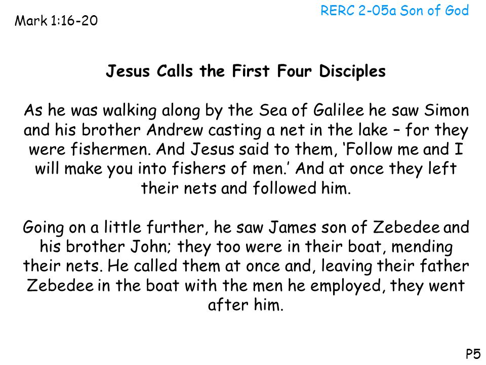 Jesus Calls the First Four Disciples
