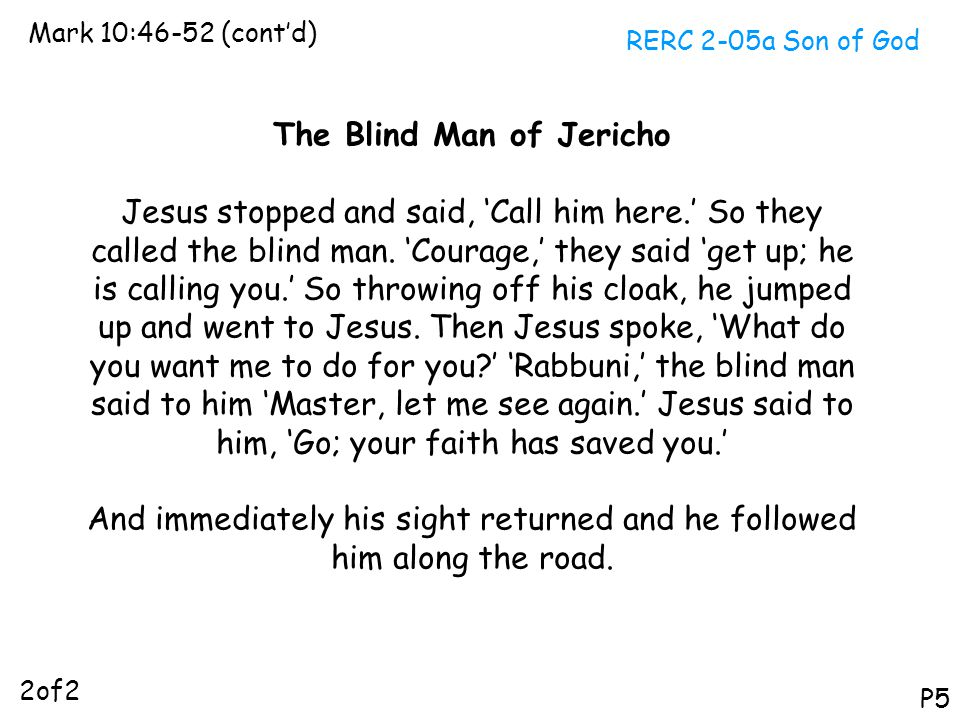 The Blind Man of Jericho