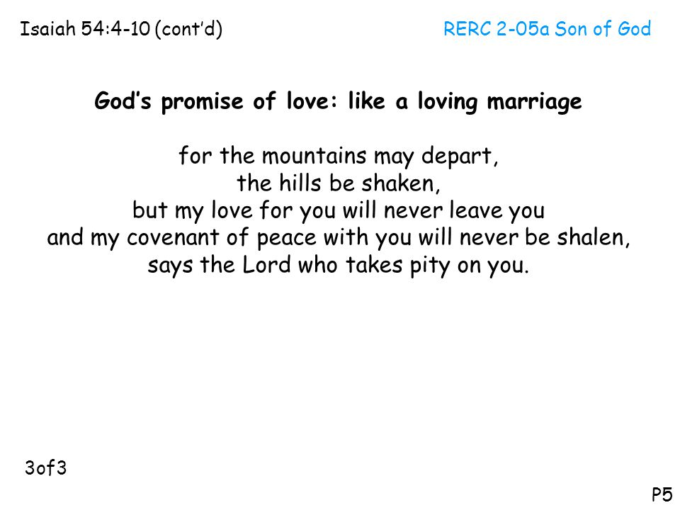 God's promise of love: like a loving marriage