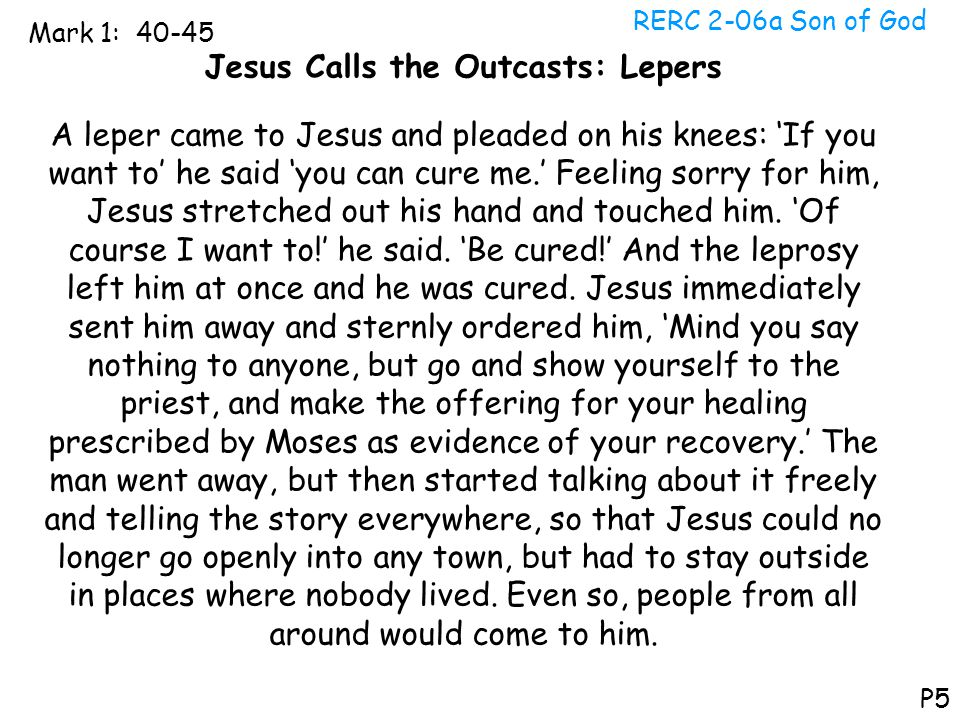 Jesus Calls the Outcasts: Lepers