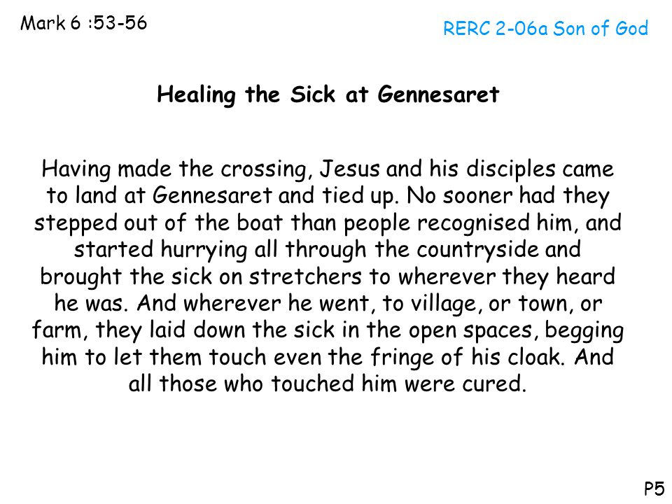 Healing the Sick at Gennesaret
