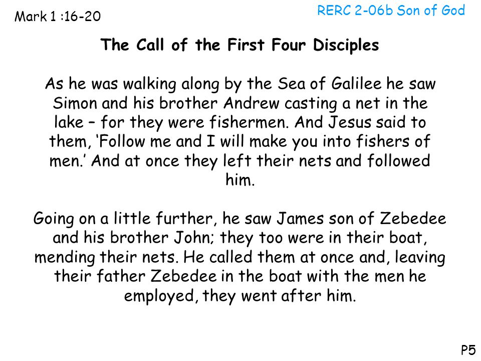 The Call of the First Four Disciples