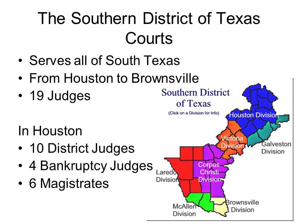 The Southern District of Texas Courts