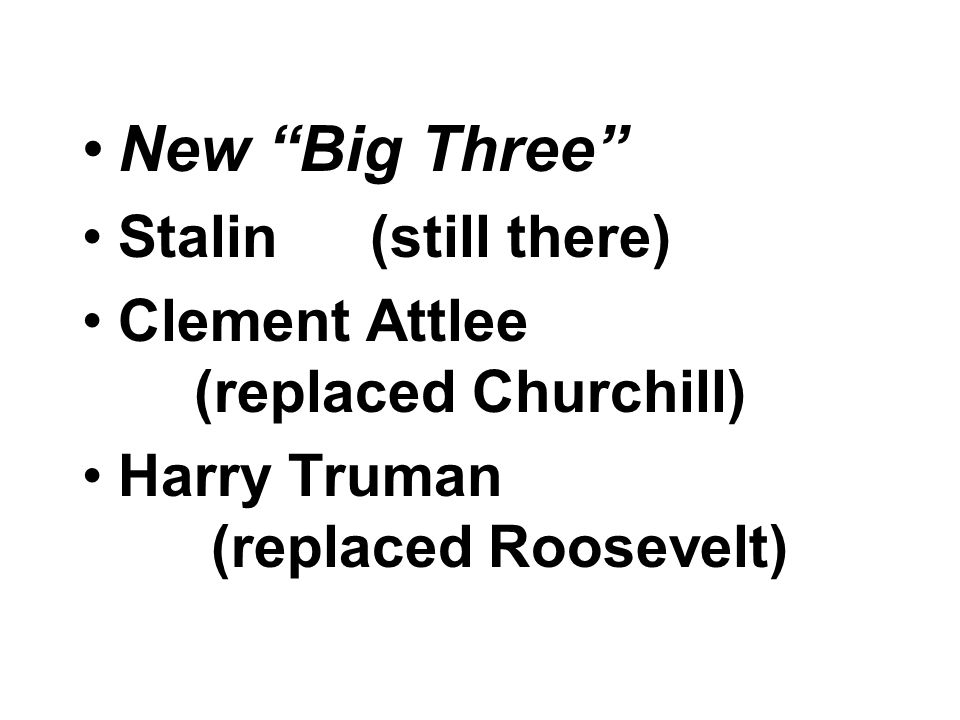 New Big Three Stalin (still there)