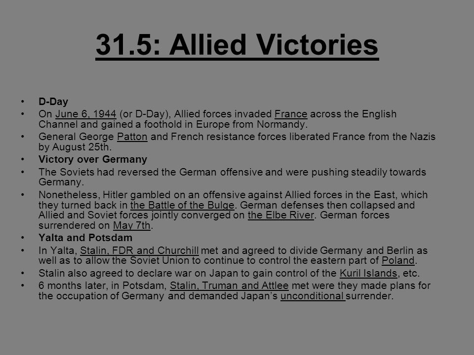 31.5: Allied Victories D-Day