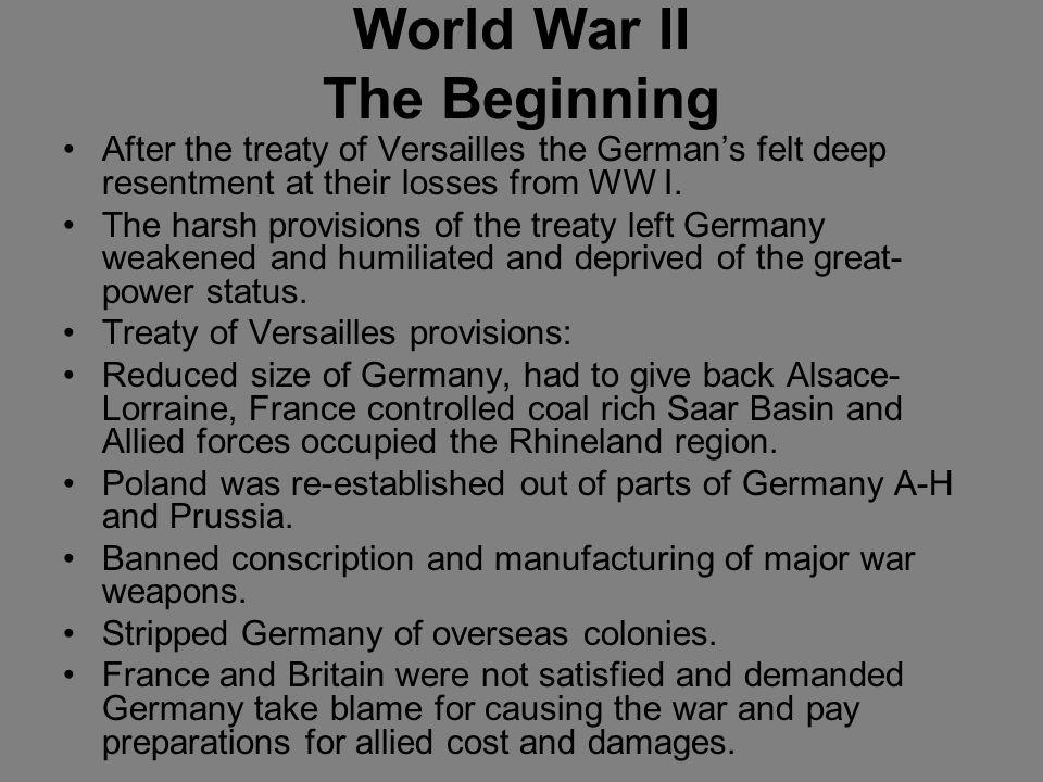 World War II The Beginning