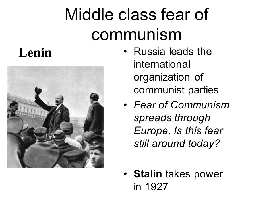 Middle class fear of communism