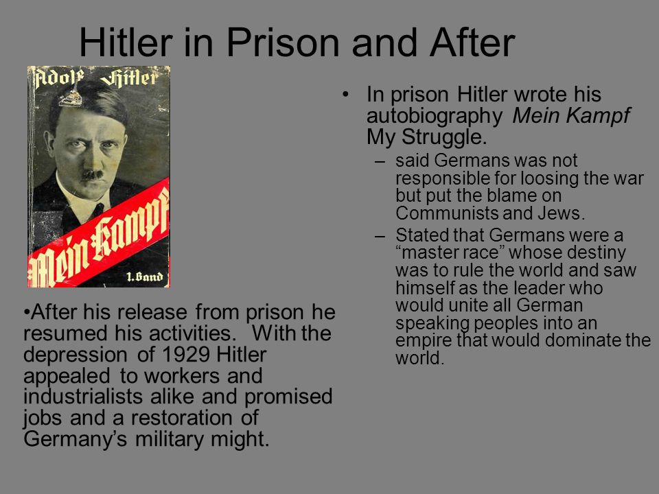 Hitler in Prison and After
