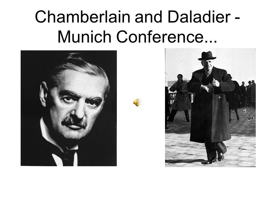 Chamberlain and Daladier - Munich Conference...