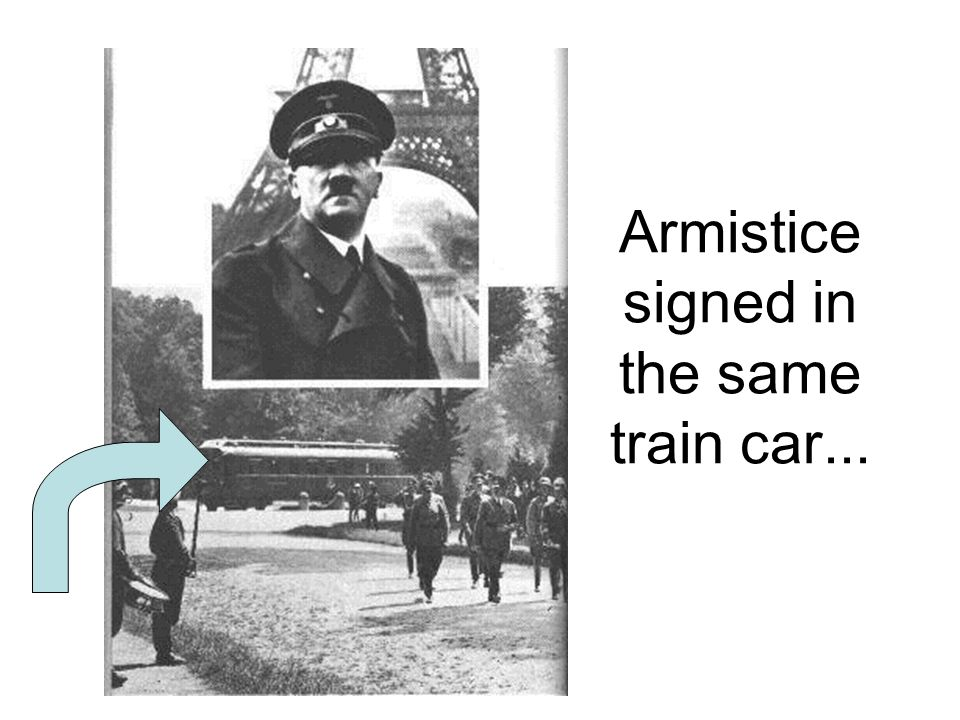 Armistice signed in the same train car...