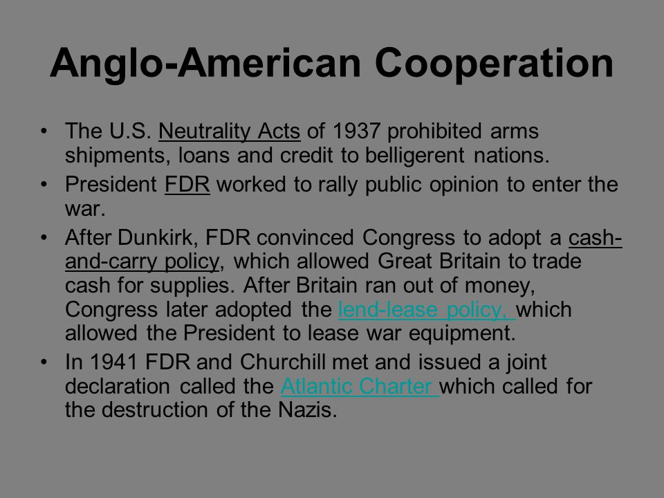 Anglo-American Cooperation