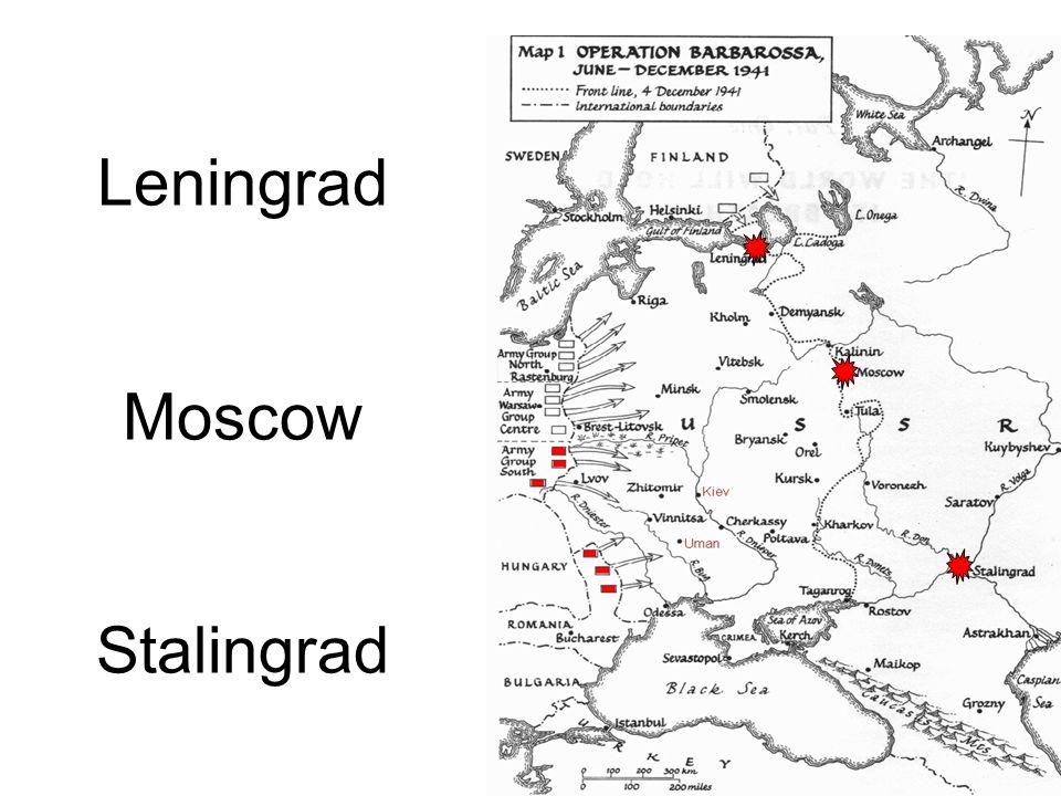 Leningrad Moscow Stalingrad