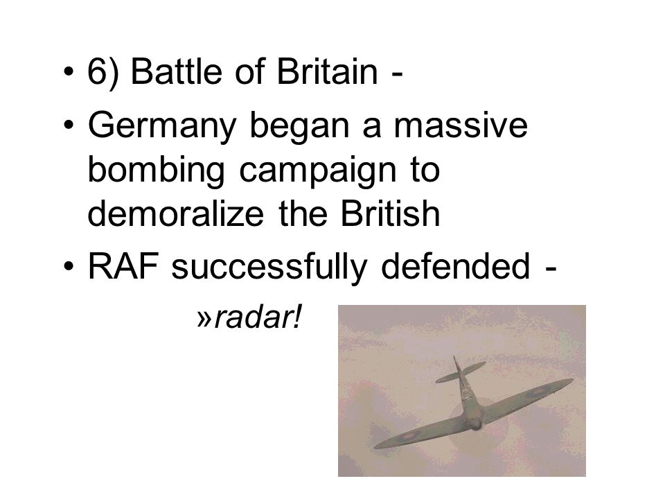 Germany began a massive bombing campaign to demoralize the British