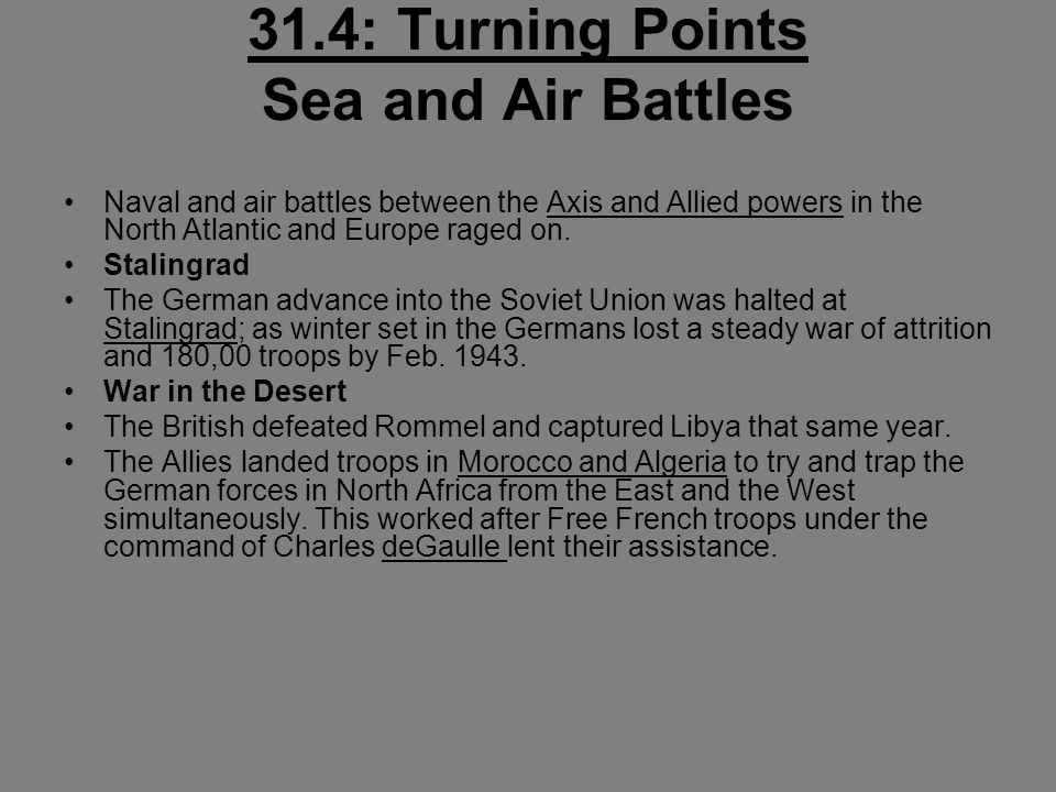 31.4: Turning Points Sea and Air Battles
