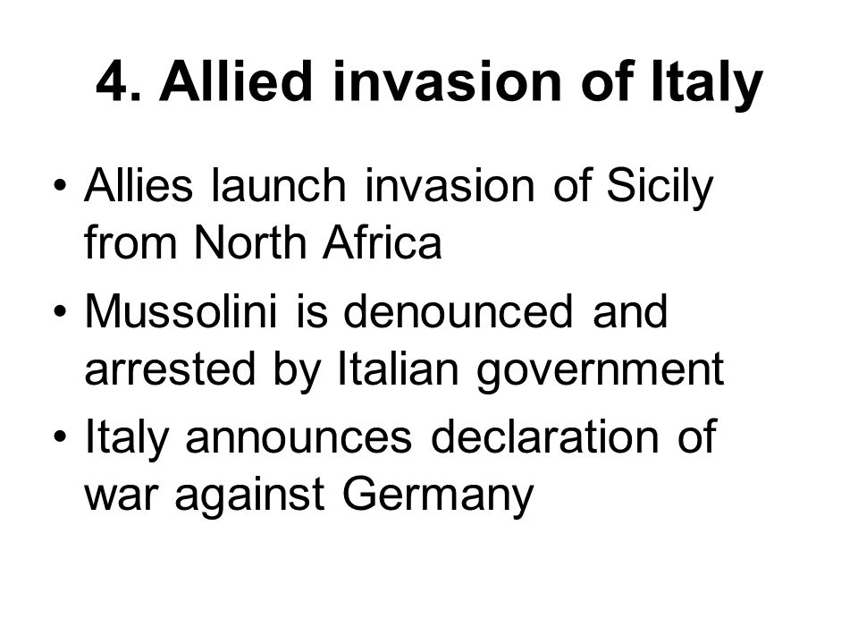 4. Allied invasion of Italy