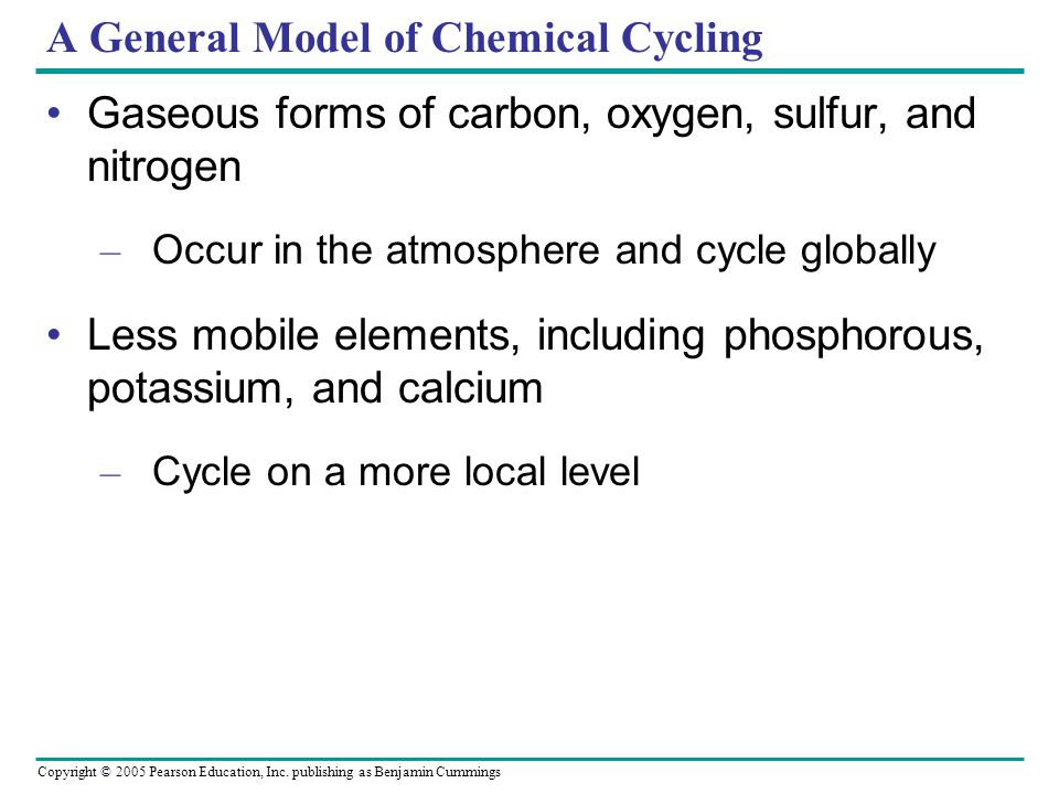 A General Model of Chemical Cycling