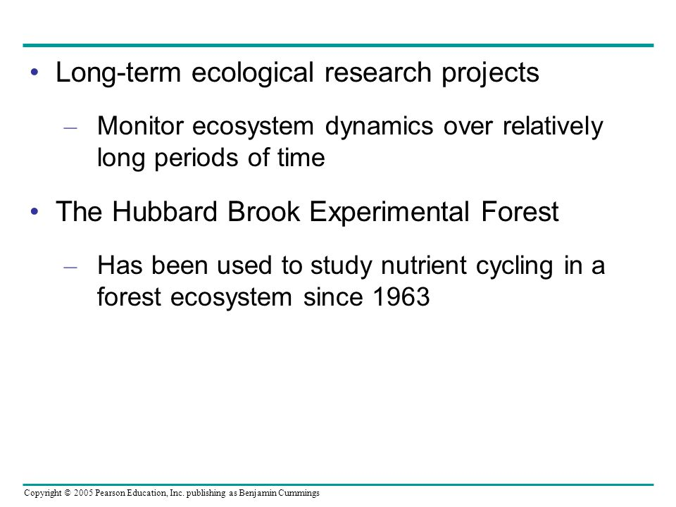 Long-term ecological research projects