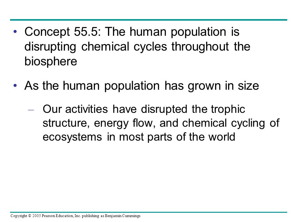 As the human population has grown in size